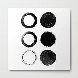 Life is Full of Circles Metal Print