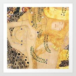 Water Serpents - Gustav Klimt Art Print