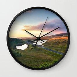 Vanishing Lakes,Ireland,Northern Ireland,Ballycastle Wall Clock