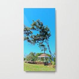 Gazebo and Leaning Tree Metal Print