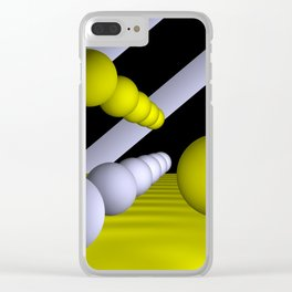 3D-geometry -9- Clear iPhone Case