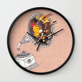 Bird Gramophone Cover Art Wall Clock