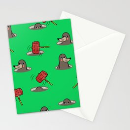 Whack-A-Mole Pattern Stationery Cards