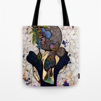 dorothy Tote Bags featuring Dorothy by Luciana Pupo Nogueira