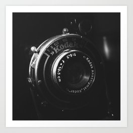 A Close-up of a Vintage Kodak Camera | Black & White Photography | Product Photography | Photo Print | Fine Art Print Art Print