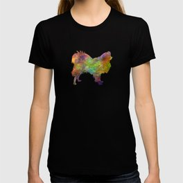 Japanese Chin in watercolor T-shirt