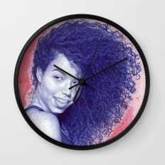 Beneath the cherry blossoms Wall Clock