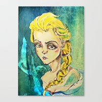 elsa Canvas Prints featuring Elsa by Hilary Dow