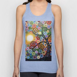 Abstract Art Landscape Original Painting ... Memory of Magic Unisex Tank Top