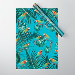 Parrots in the Tropical Jungle #1 #tropical #decor #art #society6 Wrapping Paper
