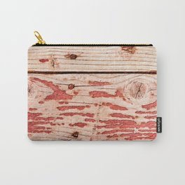 Rough Wooden Planks Painted Red Long Time Ago Carry-All Pouch