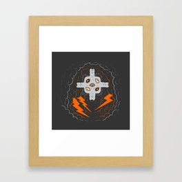 Sit, stay. Framed Art Print