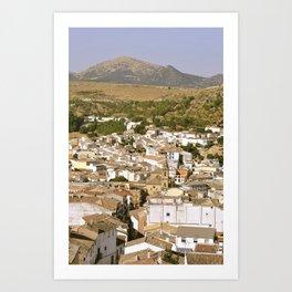Village espagnol Art Print