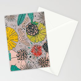 Olga loves flowers Stationery Cards