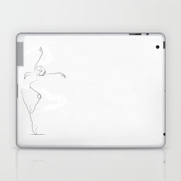 'Unfurl', Dancer Line Drawing Laptop & iPad Skin
