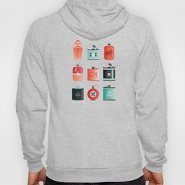 Flask Collection – Red & Turquoise Palette Hoody