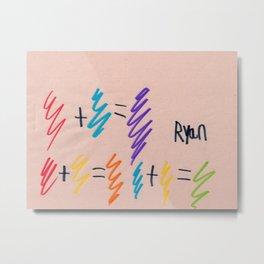 Color Mathematics Metal Print