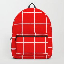 Scarlet Grid Backpack