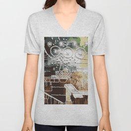 Embroidered Landscape Unisex V-Neck