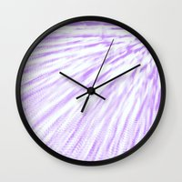 lavender Wall Clocks featuring Lavender. by Simply Chic
