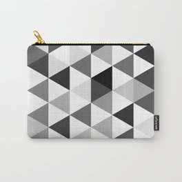 Black and white triangles Carry-All Pouch