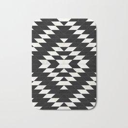 Urban Tribal Pattern No.14 - Aztec - Black Concrete Bath Mat