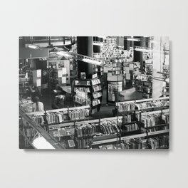 Books In The Public Library Metal Print