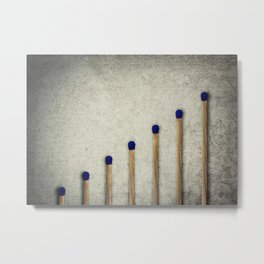 whole matches stairsteps Metal Print