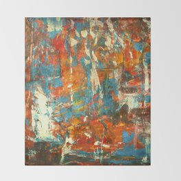 An Oasis In A Desert Abstract Painting Throw Blanket