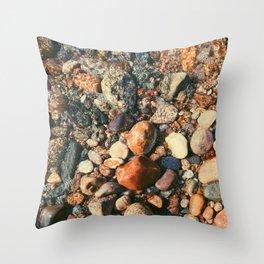 Ocean Pebbles Throw Pillow