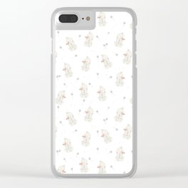 Bunnies with Dandelions Clear iPhone Case