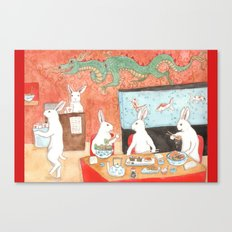 Sushi and Noodles Canvas Print