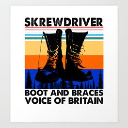 Skrewdriver boot and braces voice of britain Art Print