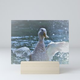 Slashing Duck Mini Art Print