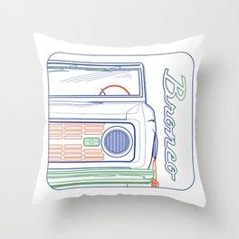 CLASSIC BRONCO Throw Pillow