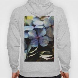 blue hydrangea flower macro Hoody