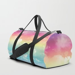 Clouds in a Rainbow Unicorn Sky Duffle Bag
