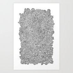 Shapes Doodle Art Print