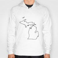 michigan Hoodies featuring Michigan by mrTidwell