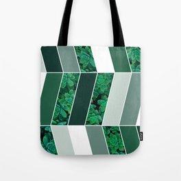 Green Herringbone #society6 #green #succulent Tote Bag