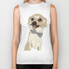 Chihuahua with Bow Tie Biker Tank