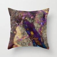 mineral Throw Pillows featuring Mineral  by Andrew Zellmer