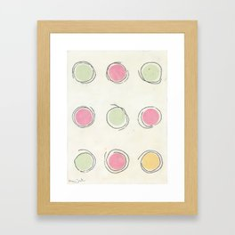 Concentric (circles) Framed Art Print
