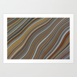 Mild Wavy Lines II Art Print