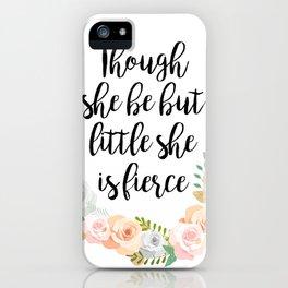 Fierce Little Thing iPhone Case