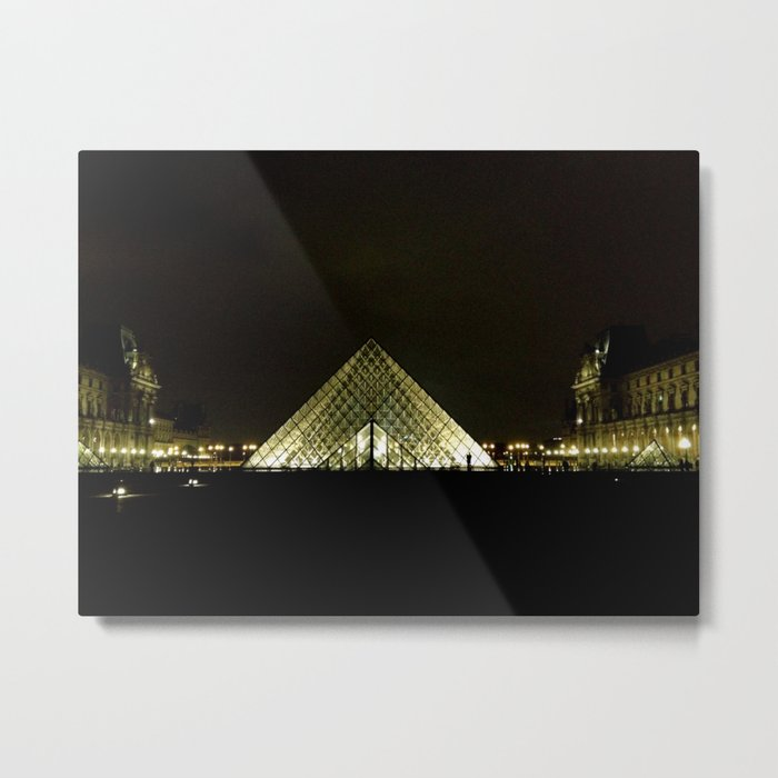 Louvre At Night Metal Print