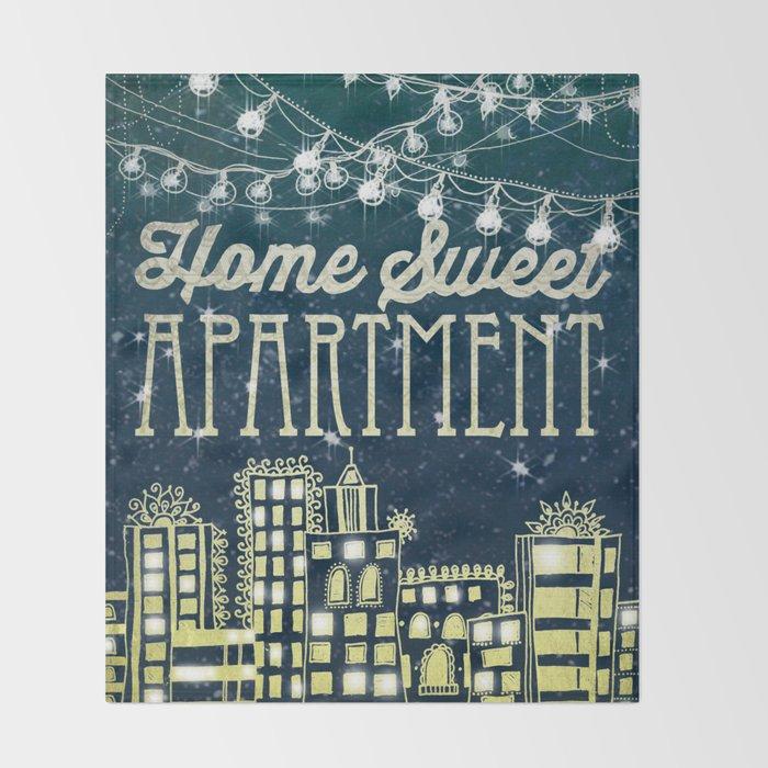Home Sweet Apartment Throw Blanket