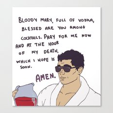 Archer & Bloody Mary Canvas Print