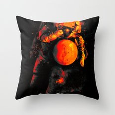 It's a Small Worls After All (Mars) Throw Pillow
