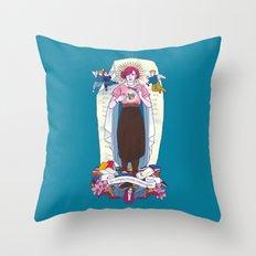 Virgen de Shermer Throw Pillow